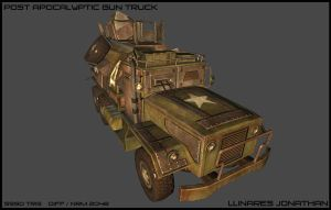 POST APOCALYPTIC GUN TRUCK by CougarJo
