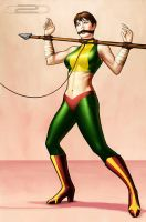 Hawkgirl Captive 2D by Dave-Dreamer