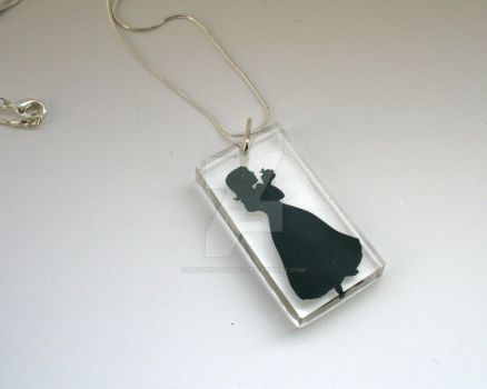 Snow White Papercut Resin Pendant by ladysilver2267