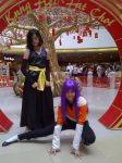 Otaku Expo: Mini Yoruichi Shihoin and Soifon by CocoSniper