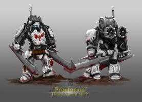 Praetorian Heavy Assault Mech by ianskie1