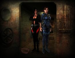 Water mession ( Ada And Jill ) by Real-Ada