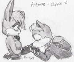 30 OTPs - Antoine + Bunnie by ryukodragon