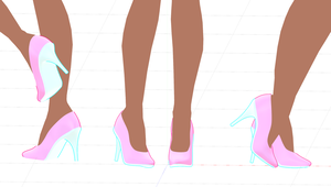 MMD - High Heeled Shoes by Cinnabooty