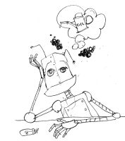 Small Robot tired by Kitsch1984