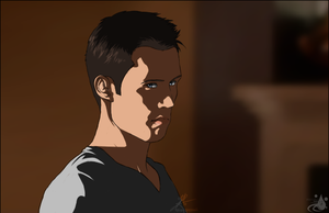 Michael Westen - Glare by InvisibleRainArt
