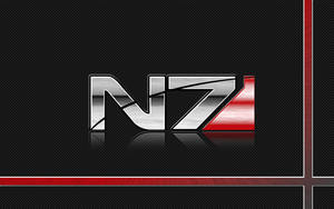 Mass Effect N7 Logo Wallpaper by pyrogx2000