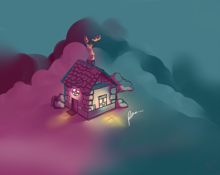 Illuday #HS - Isometric house by Illuday