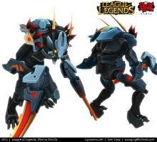 League of Legends: Mecha Kha'Zix 2012 by cg-sammu