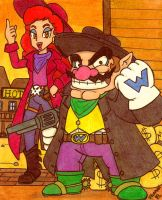 Cowboys and Mushrooms: Wario and Syrup by Villaman89