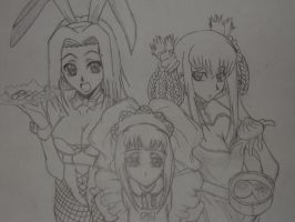 girls anime by sangre1
