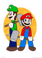 Hammer Mario Brothers by Isaangie