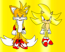 Super Tyler and Super Sonic by Shadz-the-Fox