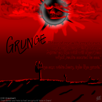 PC - Grungy eclipse by G3Drakoheart-Arts