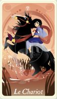 {The Princess Tarot} 'Le Chariot: Mulan' by suisei-ojii-sama