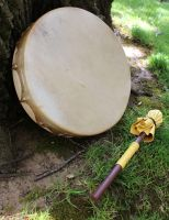 Deerskin drums are now available! by lupagreenwolf