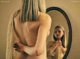 Candy in front of the mirror 3 by Val-Mont