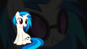 Vinyl Scratch Smiling Wallpaper 1920x1080 by Viper998