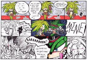 Manic and Scourge-mini comic Rematch 2 by DawnHedgehog555