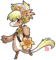 #434 Gifted floral Bagbean - Daffodil AUCTION CLOS by griffsnuff