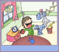 -Blue's Clues Fanart- by idrawbad