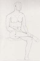Sitting Male by RachBurns