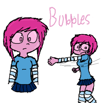 Bubbles the Gum Girl by Angel-Sanguine
