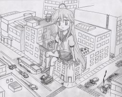 Giantess Konata by Hank88