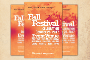 Fall Festival Church Flyer Template by loswl