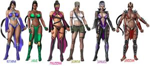 The Ladies of MK 9 -Alternate- by pisceslilly198524