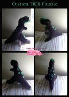 Custom green spotted TREX plushie by SPPlushies