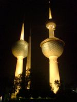 Kuwait Towers by XAzooozX