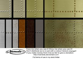 steel brass and rivets stock by Nameda by Nameda