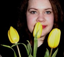 me and tulips by Darta007