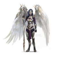 Akroma, Angel of Wrath by merkymerx