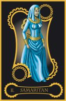 Steampunk tarot of Priestess by flamarahalvorsen