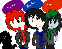 Kyto and friends by ask-kytothehero