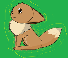 First Attempt at Eevee by koda-kuma