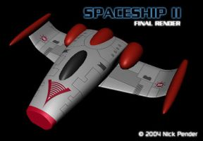 Spaceship II - Final Render by nickowolf