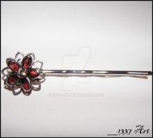 Cherry Blossom Hair Pin by 1337-Art