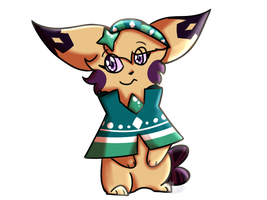 Request for Eevee-woman by ShinyTheKitsune