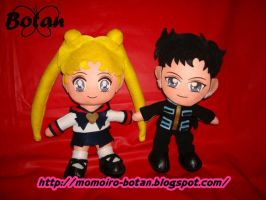 Seiya and Usagi plush ver. by Momoiro-Botan