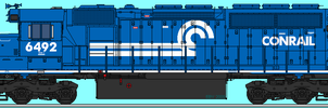 Late 1990s Conrail SD40-2 by o484