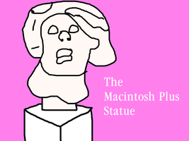 The Macintosh Plus Statue by MikeEddyAdmirer89