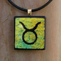 Taurus Fused Glass Pendant by FusedElegance