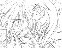 [Elsword RPs] Brutalization - lineart - by ClairSH