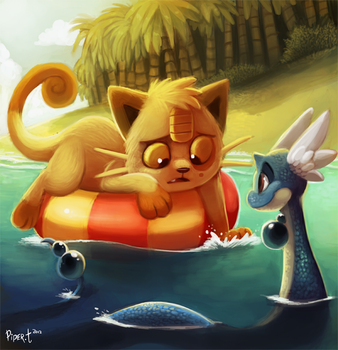 Daily 9 - Meowth by Cryptid-Creations