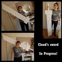 Cloud's Sword - In Progress by KellyJane