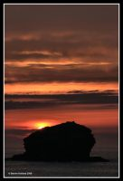 Gull Rock sunset by Kernow-Photography