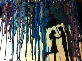 Crayons art 5, rainy days by Liarbriarpantsonfiar